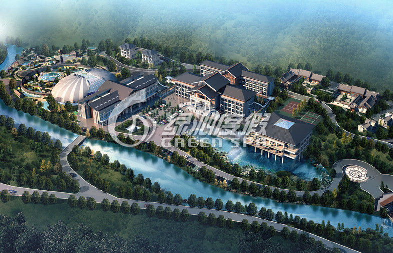 Attractive water park project Conceptual Design for Family Summer Entertainment