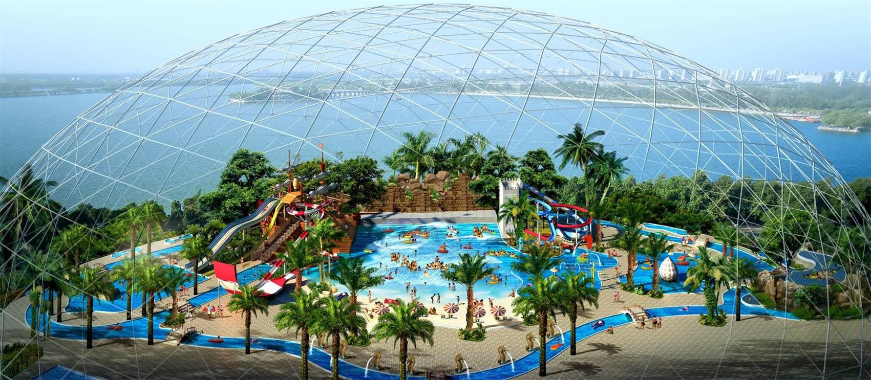 Indoor Professional Water Park Conceptual Customized for House